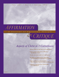 Aspects of Christ in 1 Corinthians (cover image)